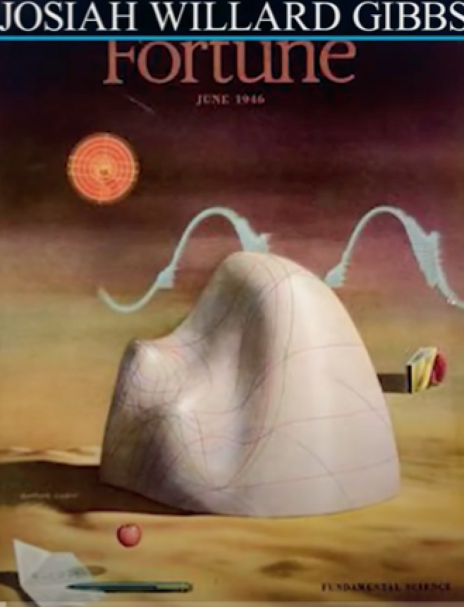 Cover of 1946 Forbes with Gibbs as surrealist art